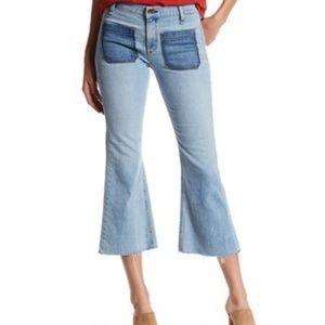 Rag & Bone Santa Cruz Flare Cropped Raw Hem Jeans